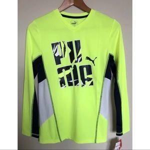 NEW Puma Kids Athletic Long Sleeve Jersey Shirt